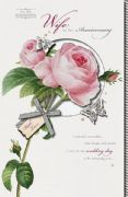 Pink Rose Wife Anniversary Card